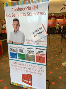 EVENPRO junto a BERNARDO STAMATEAS para Tarjeta Naranja3